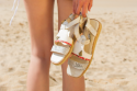 Leather Sandals Chania White
