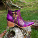 Leather Boots Eva Purple