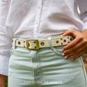 White Belt Studs
