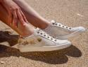 Leather sneakers Dasha white