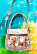 Bolson Ivory Handbag With Art
